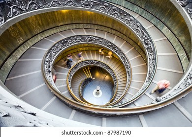 Spiral staircase in a museum of Vatican.