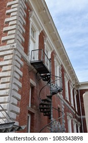 Spiral staircase on Tombstone Courthouse from 1882 Tombstone Arizona