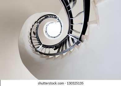 Spiral staircase showing the famous Fibonacci pattern