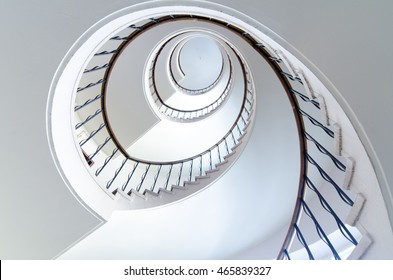 A spiral staircase straight up to heaven