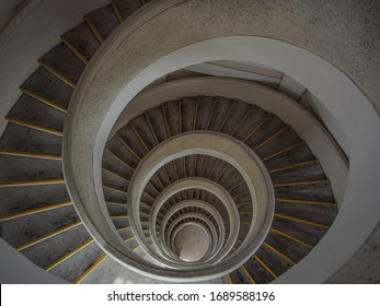 spiral staircase from top view