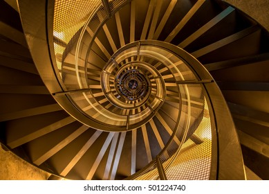 Spiral Staircase In Tower   Interior Architecture Of Building