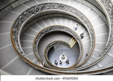 Spiral staircase in the Vatican Museum.