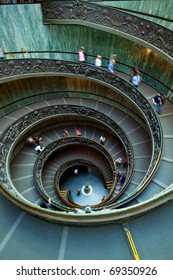 Spiral staircase in the Vatican Museum in Rome, Italy