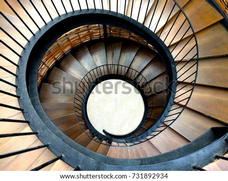 Spiral Staircase View Above Stock Photo Edit Now 731892934