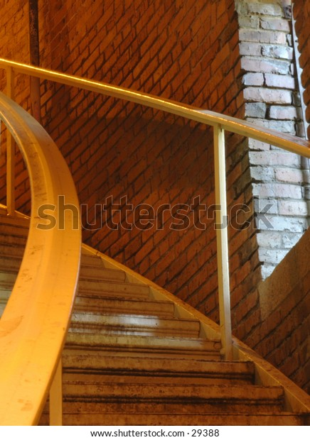 Spiral staircase at the Volunteer Park Water Tower in Seattle.