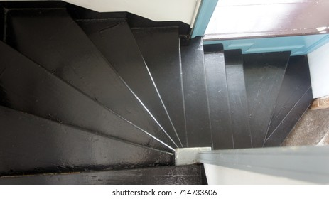Spiral Stairs in Old Courthouse Building