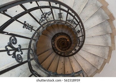 Spiral stairs in an old historic church.