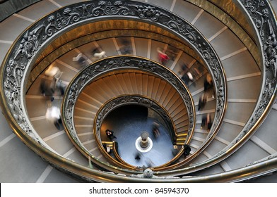 Spiral Stairwell in the Sistine Chapel Museum