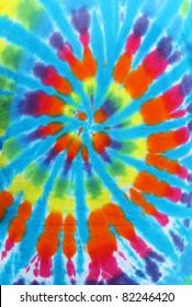 spiral tie dye design