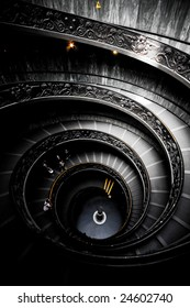 Spiraling Staircase at the Vatican Museums
