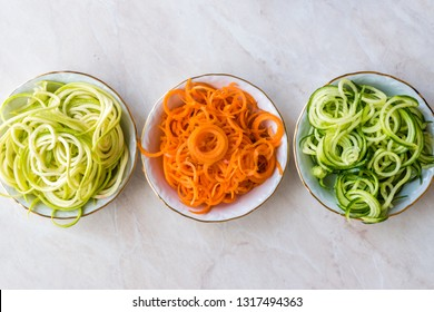 Spiralized Vegetables Noodle Carrot, Beetroot, Zucchini and Cucumber