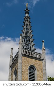 Spire of the Evangelical Peace Church in Eupen