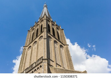 Spire of the historic Martini church in Doesburg, Netherlands