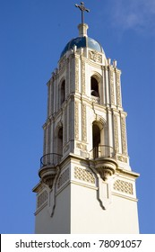Spire of The Immaculata Church, University of California.