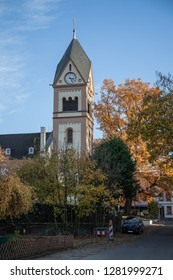 Spire of the Protestant church in Neuwied Heddesdorf