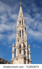 Spire of the Town Hall of Brussels, Belgium.