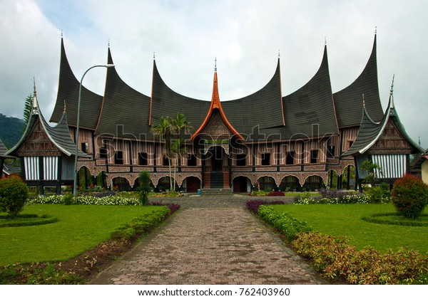 Spired roof house or known as Rumah Gadang are traditional house from Sumatra, Indonesia.  The architecture, construction, internal and external decoration, and the functions of the house reflect the