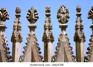 the spires of Milan cathedral