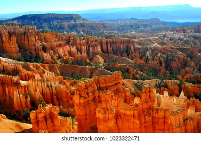 Spire-shape rock formation at Bryce Canyon National Park in Southern Utah, U.S.A