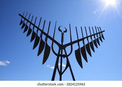 Spirit Catcher Statue located in Barrie, Ontario