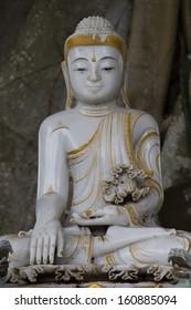 Spiritual art of  Marble Buddha.