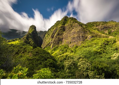 The spiritual Iao Valley on the tropical Island of Maui, Hawaii.