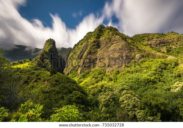 The spiritual Iao Valley on the tropical Island of Maui, Hawaii.