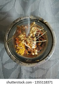 spiritual incense with herbs