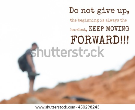 Spiritual Quote Do Not Give Up Stock Photo Edit Now 450298243