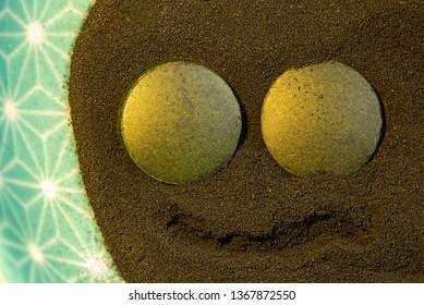 Spirulina powder detail, healthy herbs naturopathy