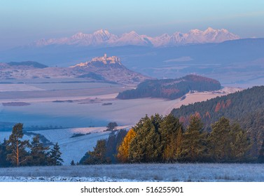 Spis Castle and High Tatras