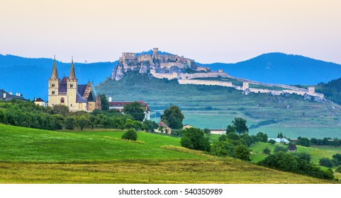 The Spis Castle(Spissky hrad) National Cultural UNESCO Monument. One of the largest castle in Central Europe, Slovakia