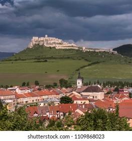 Spisske Podhradie town and Spis Castle Spissky hrad, Presov Region, Slovakia