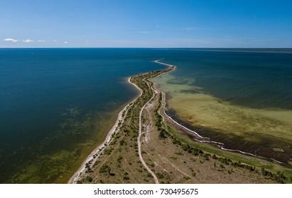 Spit of Hiiumaa island in Estonia.  Baltic sea. Kassari.