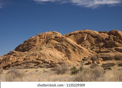 spitzkoppe mountain in namibia africa