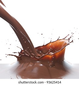 splash of chocolate isolated on white background