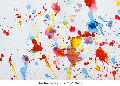Splash color on white paper for abstract or background.