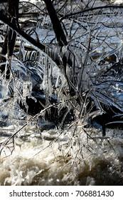 Splash ice in Lake Biwa.