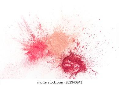 Splash of Natural Make up Tints  on White Background