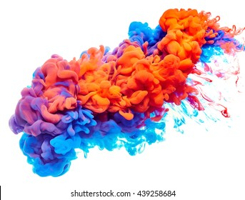 Splash of paint. Abstract background