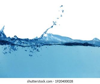 Splash of pure water on beige background, closeup