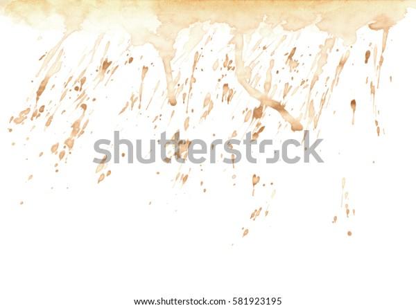 Splash of tea or coffee drops