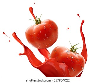 splash tomatos