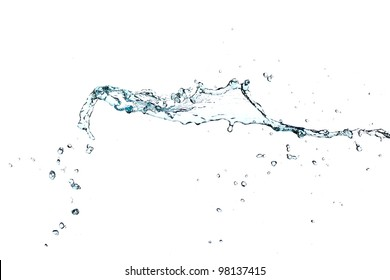 Splash of water isolated on a white background