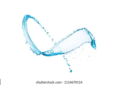 Splash of water on a white background isolated