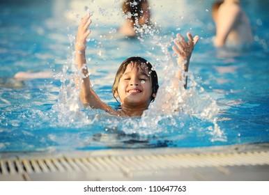Splash water pool kid summer