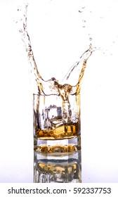 splash in whiskey glass