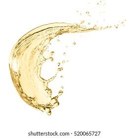 Splash of white wine, einzeln auf weißem Hintergrund