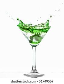 splashing alcohol